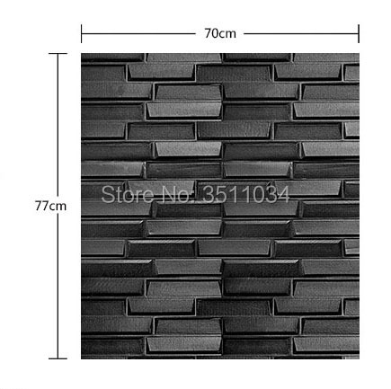 40 Waterproof 40D PE Foam Brick Wall Sticker Self Adhesive Stunning Adhesive Decorative Wall Tile