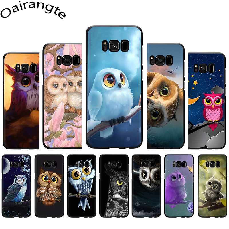 Animal Owl on the tree silicone phone <font><b>case</b></font> for <font><b>Samsung</b></font> <font><b>S6</b></font> S7 Edge S8 S9 S10 Plus S10e Note 8 9 10 M10 M20 M30 M40 image