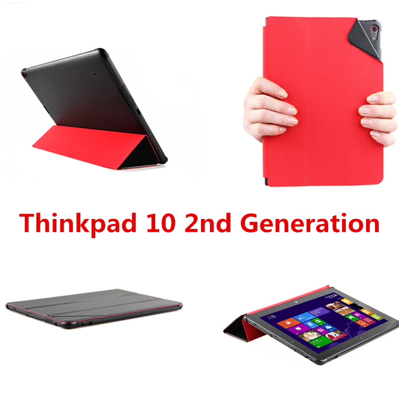 SD Luxury PU leather With Plasic Back case cover stand for Lenovo ThinkPad 10 Gen2 / Thinkpad10 2nd generation 10.1 Tablet PC