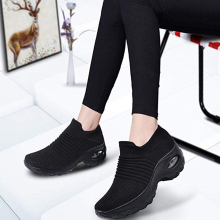 Женская прогулочная обувь; обувь из сетчатого материала для бега; Модные слипоны на платформе; кроссовки с воздушной подушкой; современная танцевальная обувь для мужчин