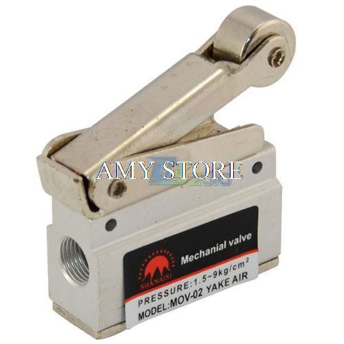 "MOV-02 1/8"" Mechanical Push Button Valve BSP Pneumatic Air Valve"