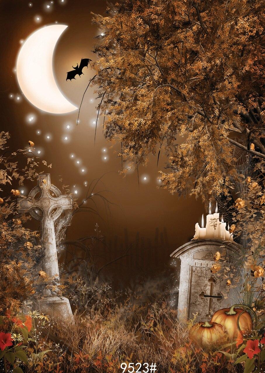 Night moon photography backdrop  Halloween pumpkin backgdrop 10x10ft  Photo background Fond studio photo vinyle   SJOLOON  цена и фото