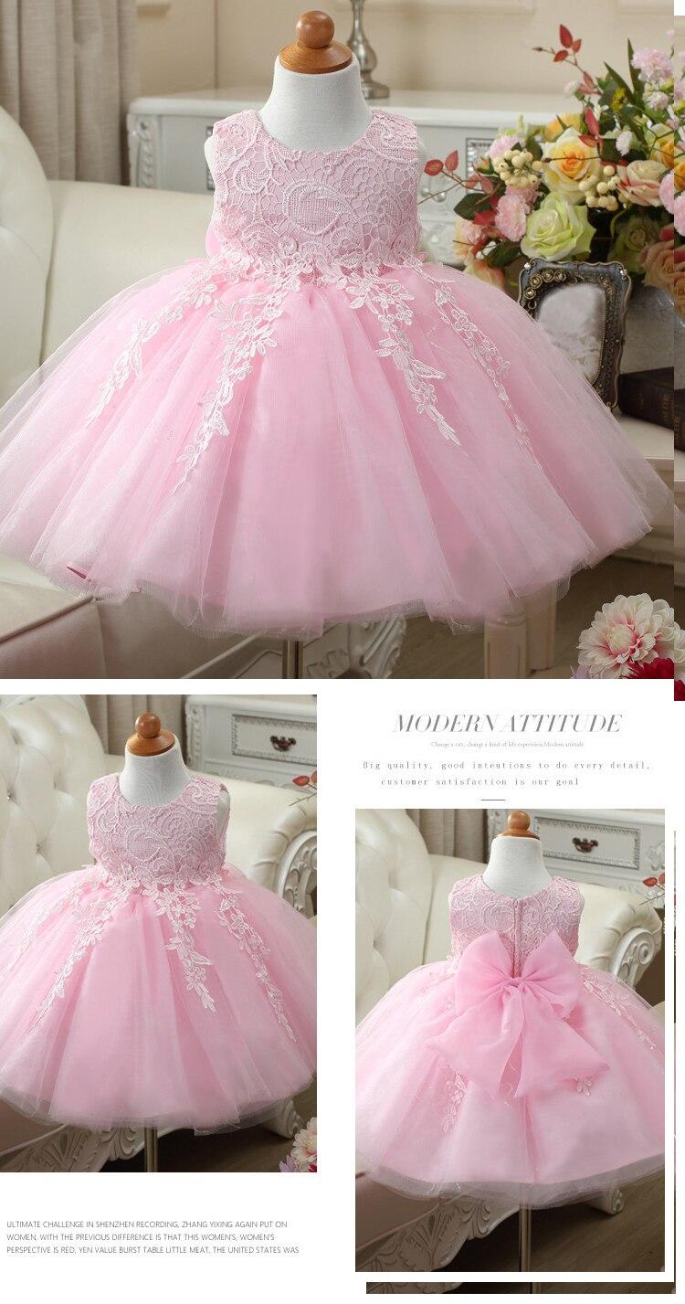 HTB1biOnnjihSKJjy0Feq6zJtpXa0 2019 Kids Tutu Birthday Princess Party Dress for Girls Infant Lace Children Bridesmaid Elegant Dress for Girl baby Girls Clothes