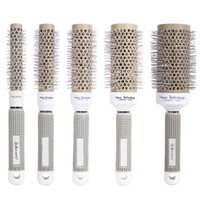 New Ceramic Ionic Round Comb Barber Hair Dressing Salon Styling Tools Brushes 6 Sizes Barrel Hairbrush 1Pcs