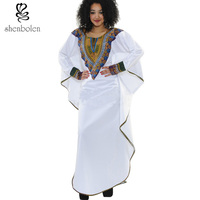 2016 African Women Clothing Loose Dress Dashiki Batik Style Long Sleeved T Shirt