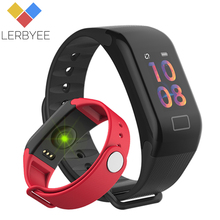 Lerbyee F1 Plus Sensible Bracelet Blood Strain Bluetooth Coronary heart Price Monitor Health Tracker Name Reminder Band for iPhone Xiaomi