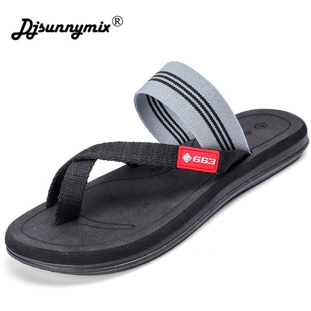 1433c18b4 DJSUNNYMIX Men summer shoes 2018 new canvas design unisex slip-on casual shoes  sandals flip flops size 36-44