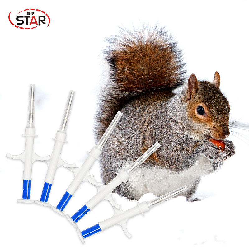 20pcs/lot Rfid Animal Syringe 2*12mm Animal Microchip Syringe 134.2KHz Pet Syringes ISO Animal Chip EM4305 Syringe For Animals(China)
