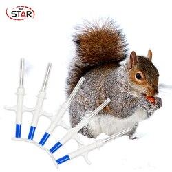 20 unids/lote rfid animal jeringa 2*12mm microchip animal jeringa 134,2 KHz para jeringas ISO animal Chip EM4305 jeringa para animales