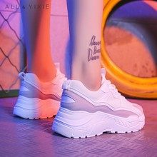 ALL YIXIE Women Shoes 2019 New Chunky Sneakers Vulcanize Casual Fashion Platform Sneaker Basket Femme Krasovki