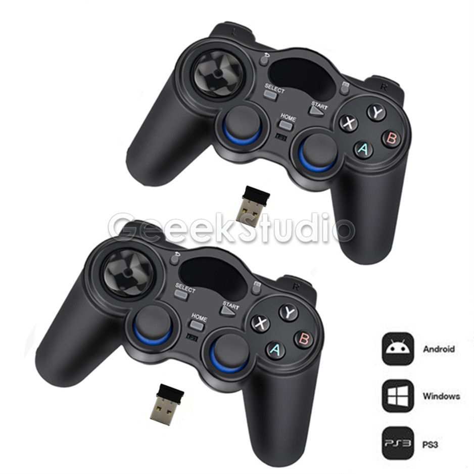 New 2.4GHz Wireless Gamepad Game Controller for PC, Raspberry Pi, RetroPie, Android Smart TV Box, Tablet PC, PS3 fishing electric skateboard with hub motor factory fish board in wheel remote control kids bluetooth fat tire scooter motor