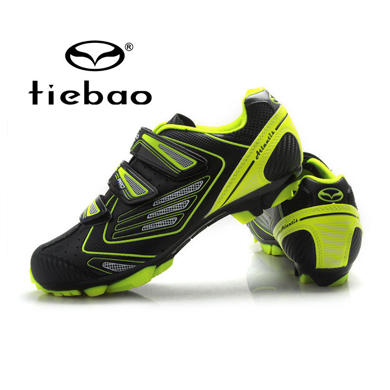 ФОТО Tiebao Men Outdoor Mountain Bicycle Shoes Professional MTB Bike Shoes Non-slip Self-locking Cycling Shoes Zapatos de ciclismo