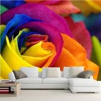 Personnalisé Roses gros plan fleurs photo murale papier peint, Chambre d'hôtel restaurant salon tv canapé mur chambre romantique grandes murales