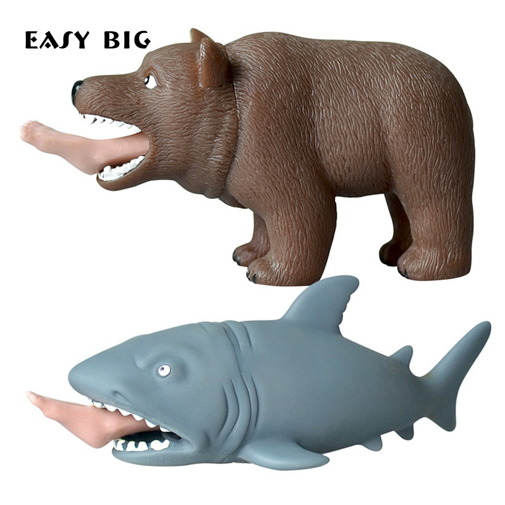EASY BIG TPR Squeeze Toys Man-eating Sharks/Bears Stress Relief Toys NR0003(China)