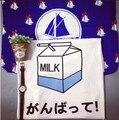 2015 Jp HARAJUKU soft milk pattern print loose short-sleeve tee