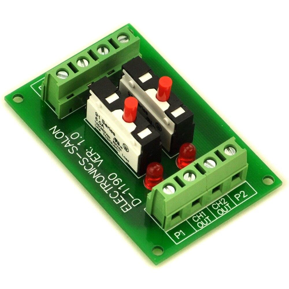 Панель крепление 2 канала Термальность выключатель модуля.