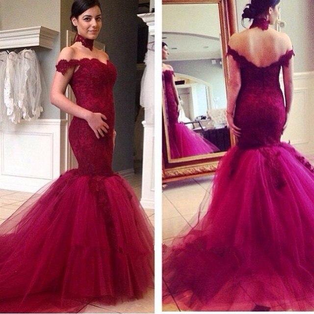 Non White Wedding Dresses: 2016 New Mermaid Long Wine Red Non White Wedding Dresses