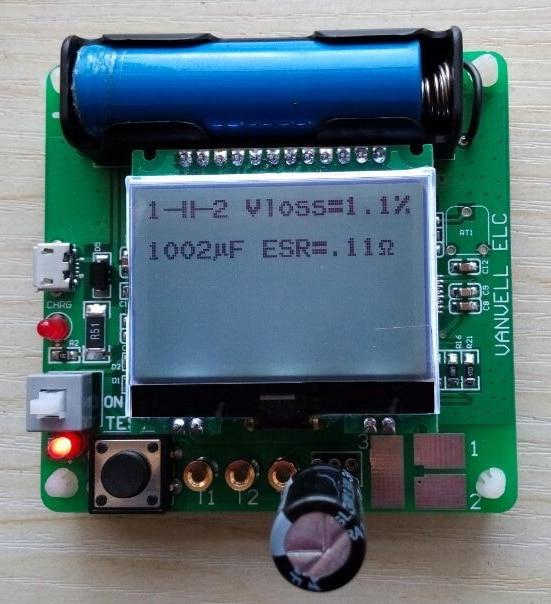 Case Newest Transistor Inductor-Capacitor ESR Meter MG328 Digital LCD Tester