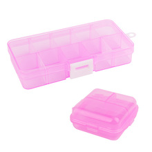 6/10 Grids Adjustable Transparent Plastic Storage Box for Small Component Jewelry Tool Box Bead Pills Organizer