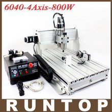 800W Four-axis CNC Router Engraver Engraving Milling Drilling Cutting Machine CNC 6040Z-4S