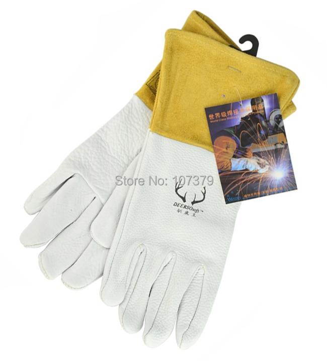 Lederarbeitshandschuh Lederschweißschutzhandschuh Maserung - Schutz und Sicherheit - Foto 3