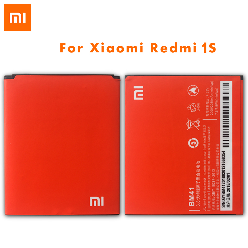 <font><b>Original</b></font> <font><b>Xiaomi</b></font> BM41 Phone <font><b>Battery</b></font> For <font><b>Xiaomi</b></font> 2A <font><b>Redmi</b></font> Hongmi Red Rice 1 <font><b>1S</b></font> 2 High Capacity 2000mAh Mobile Phone <font><b>Batteries</b></font> image