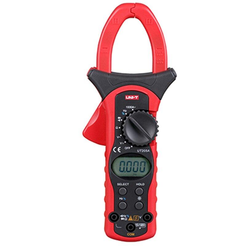 Unité UT205A UT206A gamme automatique multimètres pince numérique 1000A 600 V pince mètre ampèremètre multitesteur voltmètre avec rétro-éclairage LCD