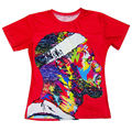 New Fashion 3D Printed LeBron James Cool Pattern T-shirts Men Tie Dye Tee Shirts Red Camisetas Summer Short Sleeve Hip Hop Tops