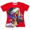 Nova Moda 3D Impresso LeBron James Legal do Teste Padrão T-shirt Dos Homens Gravata Dye Tee Camisas Vermelho Camisetas de Verão de Manga Curta Tops de Hip Hop