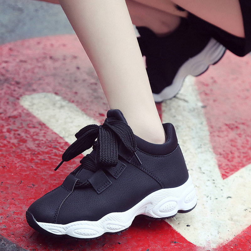 2018 Noir rose Nouvelle Coréenne Sauvage Chaussures Version Sport Harajuku Confortable Mode De Étudiants Tendance Casual gris Femmes rFw61ragqx