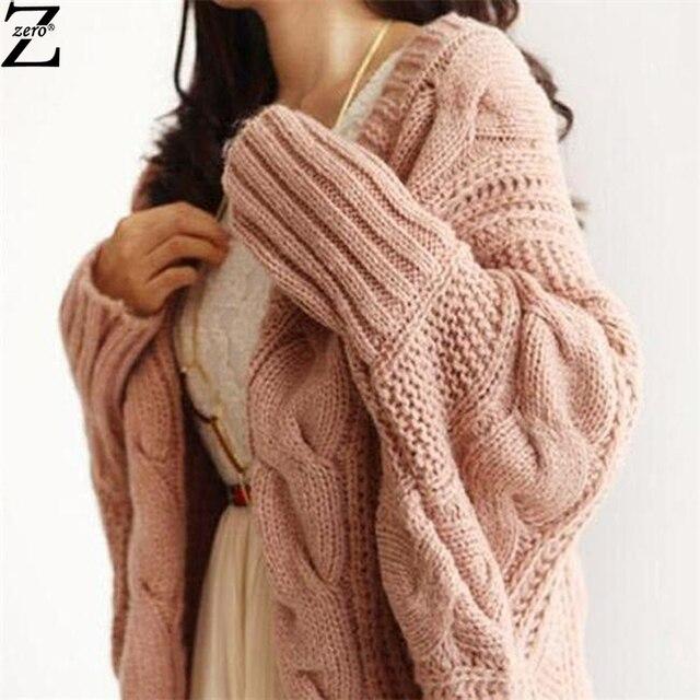 Knitted Cardigan and Sweater Women 2015 Autumn Winter Fashion Batwing Sleeve Poncho Sweater Coat  Women Crochet Cardigan
