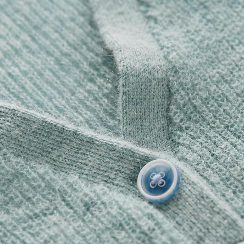 Flare Femmes caramel Manches blue Wb10381c Ressort Cardigan pink Mohair Artka De Nouvelle Laine Solide Beige Couleur 5wOZ8Ozq
