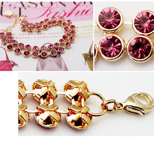 Quality accessories customize jewelry double sparkling diamond bracelet - 2419