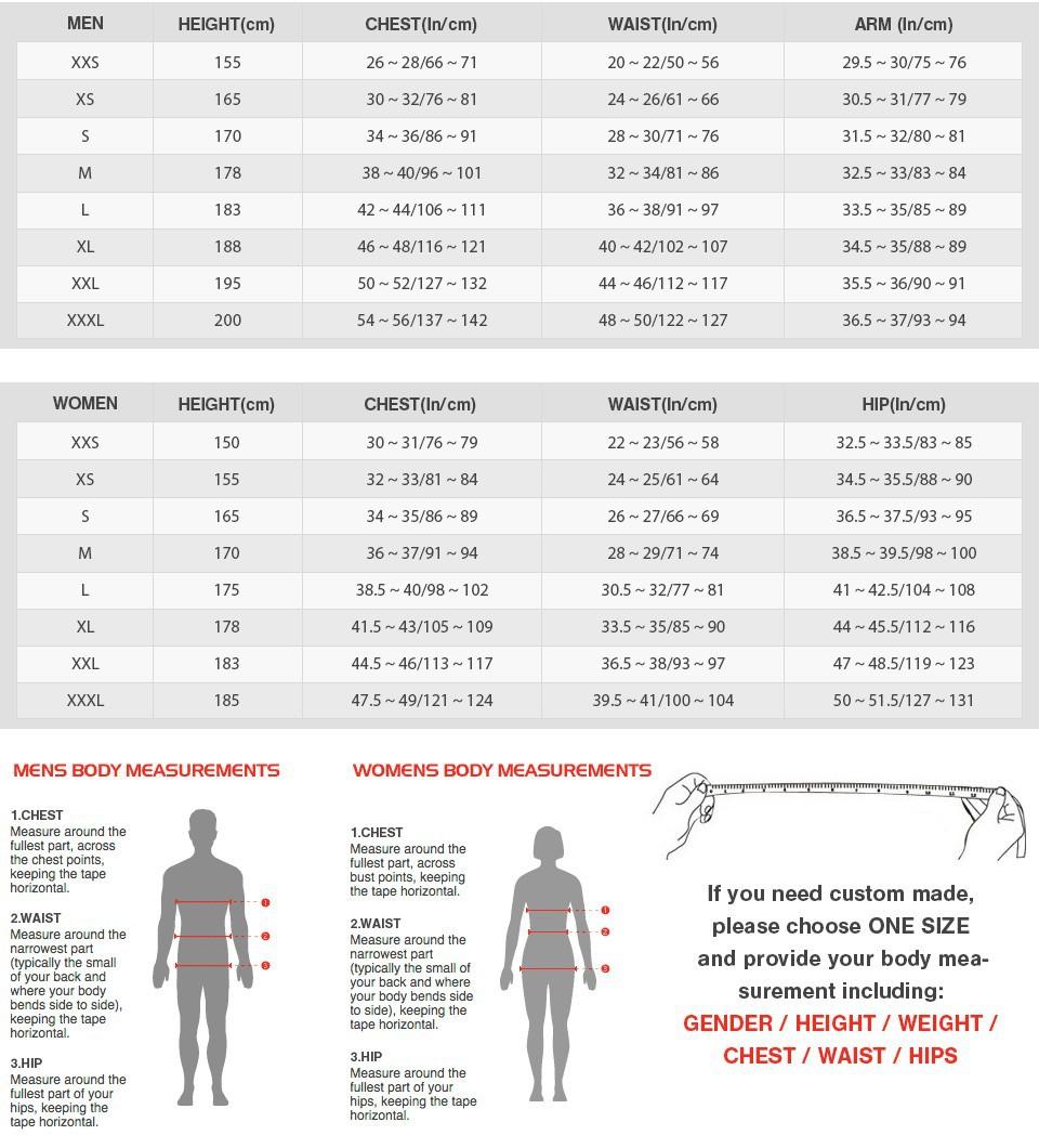 Size Chart 2015-Unicosplay