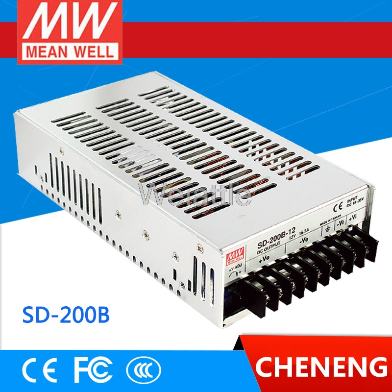 цена на MEAN WELL original SD-200B-12 12V 16.7A meanwell SD-200 12V 200.4W Single Output DC-DC Converter