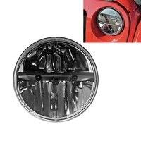 1PC 6000K 7inch Black Round LED Headlight with Hi Lo Beam for Jeep Wrangler JK TJ LJ CJ Hummer H1 H2