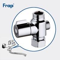 Frap Bath Accessories Quick Opening Water Segregator Shower Transformation Diverter Segregator Triangle Valve Hardware FBBB