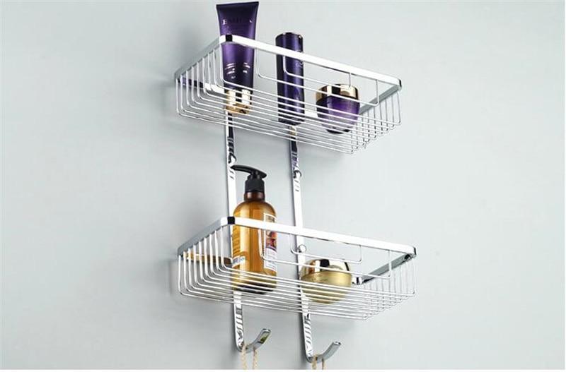 Aço inoxidável Sabão Shampoo Cosméticos Prateleiras Acessórios