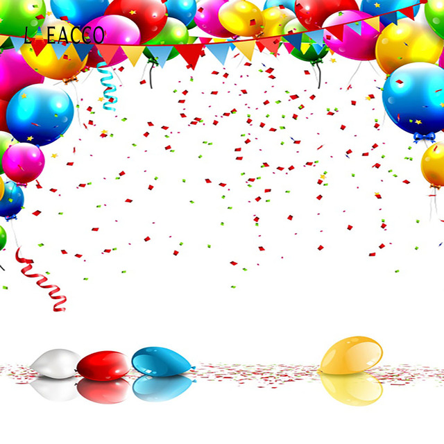 Laeacco Balloons Sequins Birthday Party Celebration Baby Photography