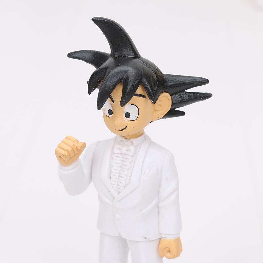 2Pcs/Set 7.5cm / 11cm anime Dragon Ball Z Son Goku Chichi Wedding ...