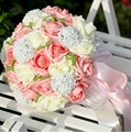 Romantic Bridal Bouquet Artificial Rose Bridesmaid Wedding Bouquet de Mariage Colorful Bride Flower