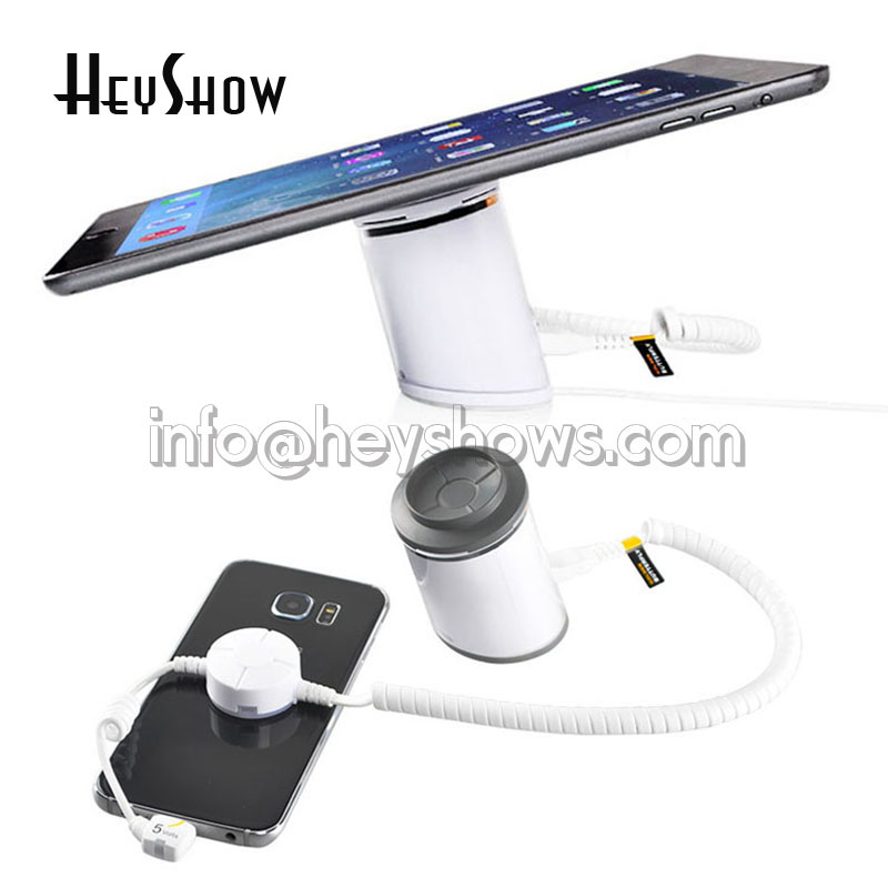 6xMobile phone security alarm tablet security stand ipad display holder cell phone secure system Samsung anti-theft lock 10xmobile cell phone security display stand tablet pc burglar alarm holder with secure cable for iphone ipad samsung andriod