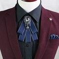 Navio Livre novo moda masculina casual masculino de Alto grau de diamante colarinho da camisa Inglaterra empate presidiu o noivo padrinho de casamento EM VENDA