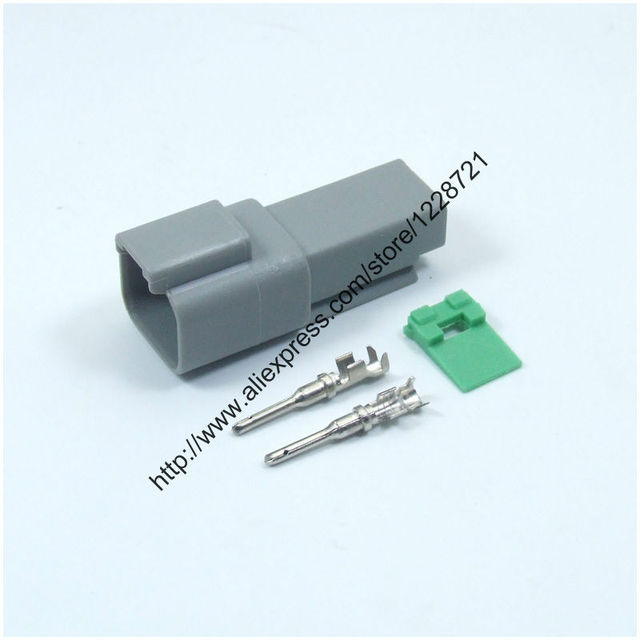 2 Way Plug Connector Kit DT04 2P 2 Pins Female Wire Connector Kit ...