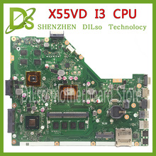KEFU X55VD For ASUS X55VD laptop motherboard with i3 cpu with graphics card tested