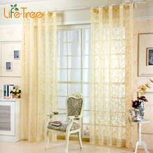 Embroidered Curtain Tulles Bedroom Sheer Curtains for Living Room European Classic Window Screen 7 Colors Custom Made