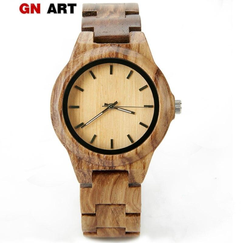 GNART relojes de madera mortre femme zegarek damski de lujo 2018 reloj de madera damas marca relojes para mujer relogio femenino