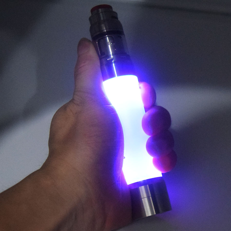 LED Tube Mod With Qp JuggerKnot Mini Rta 18650 Battery MOD ACE Chip USAGE Protection High Electrical Conductivity PC Tube Kit