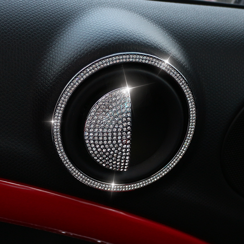Image 4 - Central control outlet Door Sticker For Mini Cooper R55 R56 R60 R61 Car Styling Diamond Tachometer Metal Car Interior Stickers-in Interior Mouldings from Automobiles & Motorcycles