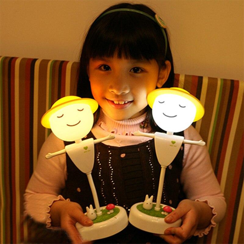 Творческий USB ночник настольные лампы для чтения датчик движения светодиодный свет детская игрушка лампы домашнего освещения светило внут...
